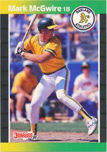 1989 Donruss Mark Mcgwire Oakland Athletics 95 Baseball Card