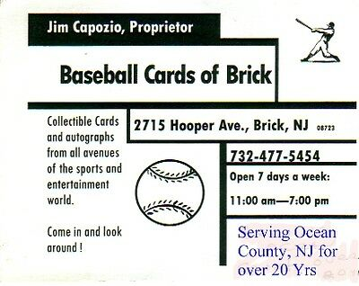 Baseball Cards of Brick