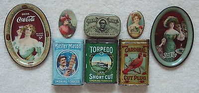 ANTIQUE ADVERTISING TINS TRAYS ETC
