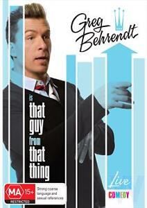 Greg Behrendt Is That Guy From That Thing (DVD, 2011) New & Sealed