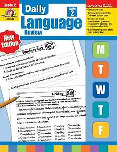 Daily Language Review, Grade 2 (Daily Practice Series) by Jo Ellen Moore