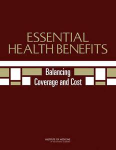 Essential Health Benefits:  BOOK NEW