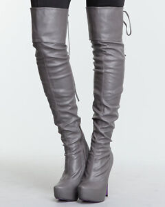 Jeffrey Campbell Over Knee Boots Synthetic Shoes for Women | eBay