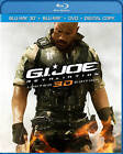 G.I. Joe: Retaliation (Blu-ray/DVD, 2013, 3-Disc Set, Includes Digital Copy; UltraViolet; 3D/2D)