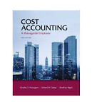 Cost Accounting with MyAccountingLab with Pearson eText -- Instant Access -- for Cost Accounting and MyAccountingLab -- Valuepack Access Card, Component (1- semester access) Package, Horngren and Horngren, Charles T., 0132795167