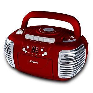 Auf diesen tragbaren Stereoanlagen kann man CDs, MDs und Kassetten abspielen