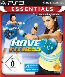 PS3 Essentials Move Fitness Spiel Sportspiel 25 Übungen Trainer PS 3 DEUTSCH Neu