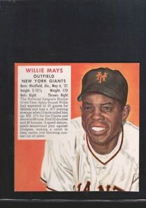 1952 Red Man Willie Mays 15 Baseball Card