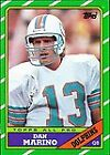 Topps Dan Marino Single Football Trading Cards