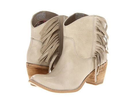 Fringed Leather Booties