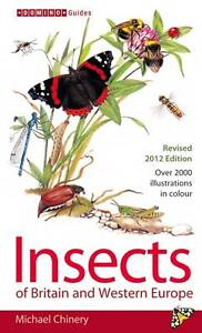 Insects of Britain and Western Europe (Field Guide), Good Condition Book, Chiner