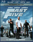 Fast Five (Blu-ray/DVD, 2011, 2-Disc Set, Rated/Unrated; Includes Digital Copy) (Blu-ray/DVD, 2011)