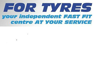 For Tyres Stoke tel:01782 215562