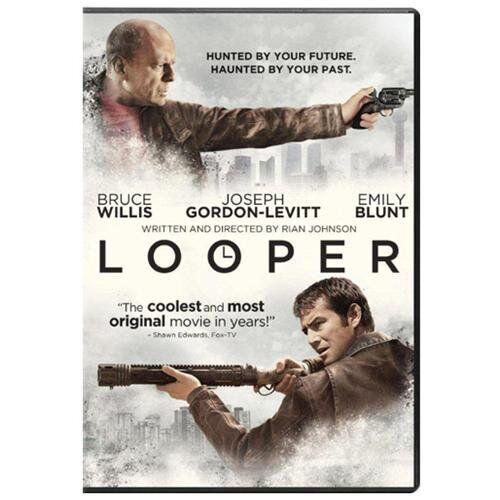 In dem Actionfilm Looper auf DVD und Bly-Ray bedient sich Joe einer verbotenen Zeitreise-Technologie