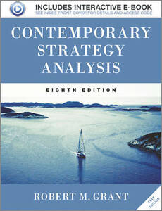 NEW Contemporary Strategy Analysis Text Only by Robert M. Grant