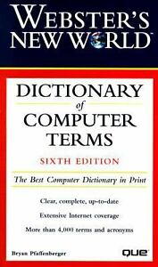 Webster 39 s new world dictionary of computer terms for Terrace dictionary