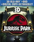 Jurassic Park (Blu-ray/DVD, 2013, 3-Disc Set, Includes Digital Copy; UltraViolet; 2D/3D)