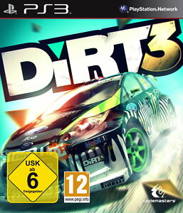 ★PS3★SPIEL COLIN MCRAE DIRT 3 RALLY IS BACK GETESTETE VERSION SEHR GUT 662 !
