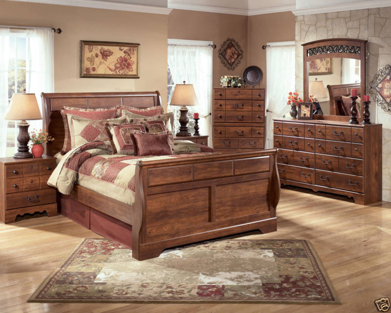 This rustic cottage design by Stella provides a traditional motif  while  combining wood and metal elements  It features a sleigh bed that comes in  both. Top 10 Bedroom Sets for Newlyweds   eBay