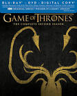 Game of Thrones: The Complete Second Season (Blu-ray Disc, 2013, Greyjoy)