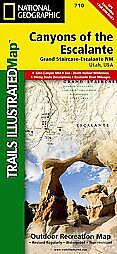 National Geographic Trails Illustrated Utah Canyons of the Escalante Map 710