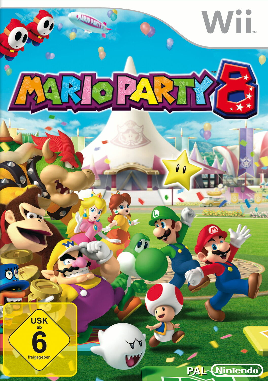 Mario Party 8 (Nintendo Wii, 2007, DVD-Box)