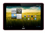 Acer Iconia Tab A200 16GB, Wi-Fi, 10.1in - Red