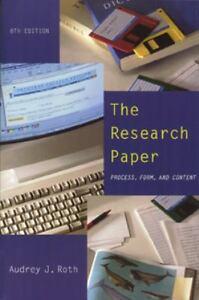 research paper process form content