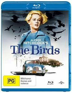 THE BIRDS BLU-RAY  ROD  TAYLOR  REGION B  ALFRED HITCHCOCKS  NOT SEALED