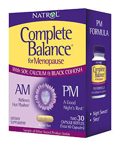 Natrol complete balance for menopause am pm 30 30 caps relieves hot flashes 47469030018 ebay - Uur pm balances ...
