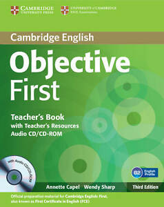 Objective First Teacher039s Book with Teacher039s Resources Audio CDCDROM by - Norwich, United Kingdom - Returns accepted Most purchases from business sellers are protected by the Consumer Contract Regulations 2013 which give you the right to cancel the purchase within 14 days after the day you receive the item. Find out more about  - Norwich, United Kingdom