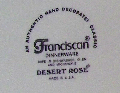 Franciscan Desert Rose How To Determine Age Ebay