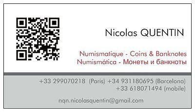 Nicolas QUENTIN Modern world coins