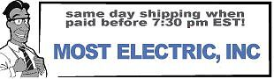 MostElectric Same Day Ship Till 7PM