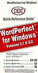 Wordperfect for Windows Quick Reference Guide, Marivel Salazar and Angelo Cassano, 1562430610