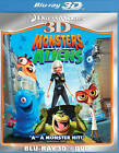 Monsters vs. Aliens (Blu-ray/DVD, 2011, 2-Disc Set, 3D)