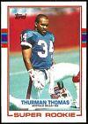Rookie Thurman Thomas Football Trading Cards