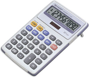 Sharp 10-Digit Tax Semi-Desktop Solar Calculator EL334FB