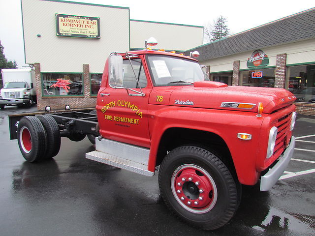 Used Cars Olympia Wa >> 1972 Ford F-750 12,710 Actual Miles, Retired Fire Truck ...