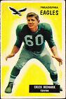 Chuck Bednarik Single Football Trading Cards