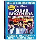 Jonas Brothers - The Concert Experience (Blu-ray Disc, 2009, 3-Disc Set, Canadian; Includes DVD + Digital Copy)
