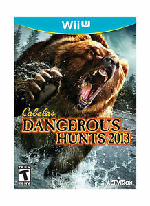 Nintendo-Wii-U-Cabelas-Dangerous-Hunts-2013-Game-BRAND-NEW-SEALED