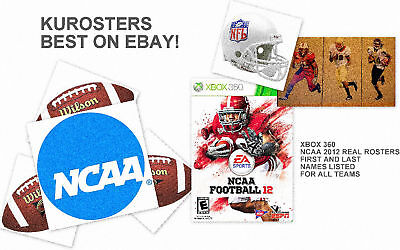 360 Ncaa College Football 2012 Roster File Xbox 360 12