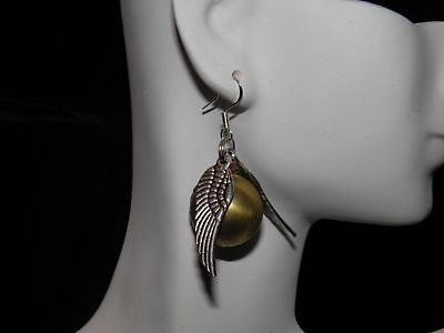 Harry Potter Golden Snitch Steampunk Locket Earrings