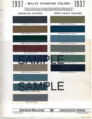 1949 Hudson Commodore Super Brougham 49 Paint Chips Sw