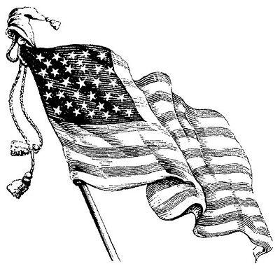美国国旗超级简笔画内容图片展示