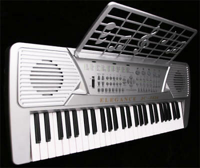 Buy electronic music - Silver 54 Key Electronic Music Keyboard Electric Piano