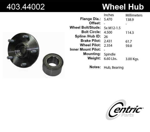 Centric 403.44002E Front Wheel Bearing