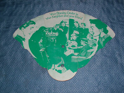 VINTAGE 1954 STANLEY HOME PRODUCTS WESTFIELD HAND FAN