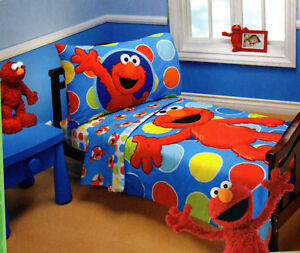 Elmo Sesame Street 4 Piece Toddler Bedding | eBay